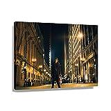 Heath Ledger Dc Joker Poster Cuadros de pared para dormitorio, lienzo al óleo, impresiones giclée Artwork Pictures Pintura moderna decoración de cocina para baño (90 x 60 cm), enmarcado)