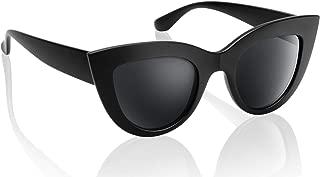 UV Protection Cat Eye Sunglasses,Mirrored Flat Lens Women Fashion Glasses