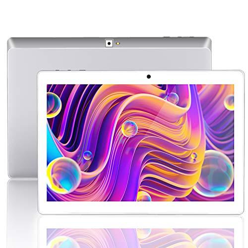 Tablet 10 Pulgadas ,Android 9.0 , Tablets 10.1, 3G, 4G, HD, WiFi, 32GB RAM, 2GB ROM, GPS, gsm, Quad-Core, Dual SIM Card, 8.0MP (Plata(3G Network))