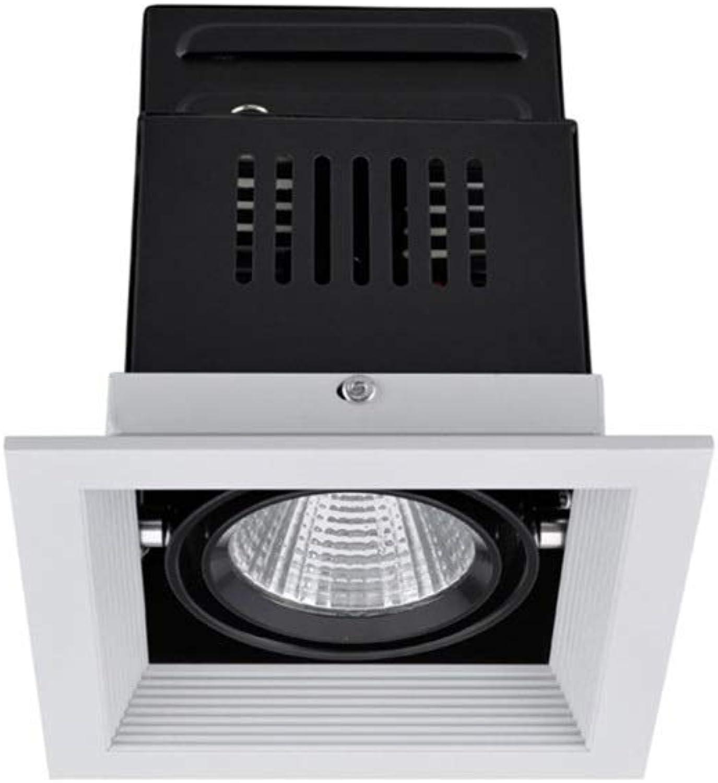 Modenny 7W Aluminium-Deckenverkleidung leuchtet Blendendacheinbau-Downlight-Beleuchtungskrper-Quadrat-Beleuchtung Innendekoration Einkaufszentrum-Küche-Büro-Hotel-Deckenleuchte (Gre   1-Light)