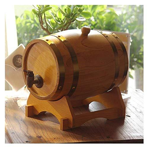 Whiskey Barrel Gegraveerde Wijnvat Whiskey Veroudering Barrel Handgemaakt Met behulp van Witte Eiken Leeftijd Uw Eigen Whiskey Bier Wijn Bourbon Tequila Rum Hete Saus Meer - Vat Verouderde (10 Liter) Retro Rood