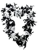 ILOVEFANCYDRESS Un boa à plumes noir et blanc royale de 65 grammes.