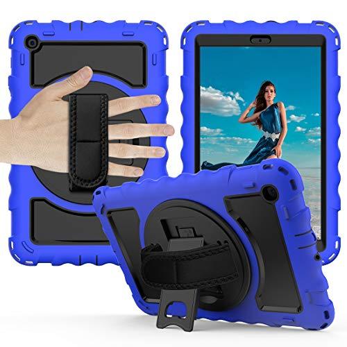 Tablet PC Bolsas Bandolera Caja protectora es for (2019) Caso Samsung Galaxy Tab A10.1 T510 / T515 duradero anti-gota con todo incluido protector con el soporte giratorio / correa de mano y la caja pr