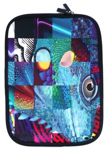 emartbuy Reptile Mosaic Wasserabweisendes Neopren Weicher Reißverschluss-Kasten/Abdeckung/Schutzhülle Passend für Sony VAIO Fit 15 Multi-Flip (15-16 Zoll Laptop/Notebook)