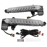 aqxreight - Luz de circulación diurna, 1 par de parachoques delantero de coche, lámpara de luz de circulación diurna LED blanca y amarilla apta para SE/XSE 2020-2021
