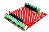 ICQUANZX Proto Tornillo Shield montado Terminal Terminal Prototipo Placa de expansión Fuente de Apertura Botón de reinicio PCB Placa Desnuda para Arduino