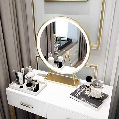 Relaxbx LED Make-up Spiegel met Licht Vul Licht Slaapkamer Desktop Spiegel Dressing Spiegel Meisje Spiegel Explosie Goud