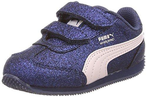 PUMA Mädchen Whirlwind Glitz V Inf Sneaker, Blau (Sargasso Sea-Pearl), 22 EU