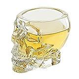 Ruipunuosi Crystal Skull Cup Suministros de Halloween Vodka Glass Skull Head Copa de vino Vasos para beber Hombre Copa de regalo