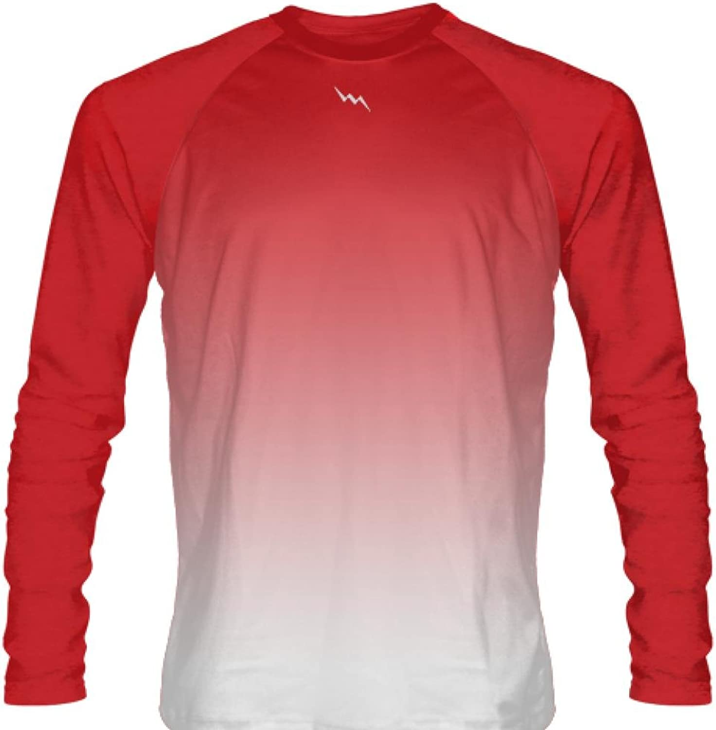 LightningWear Red Long Sleeve Lacrosse Shirts