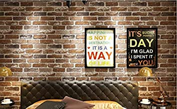 Store2508 3D Effect Textured Retro Brick Pattern Wallpaper (0.53 * 10m, Appx. 57 Sq Feet) (54703)