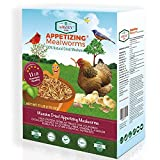 Amzey Dried Mealworms 11 LBS - 100% Natural for Chicken Feed, Bird Food, Fish Food, Turtle...