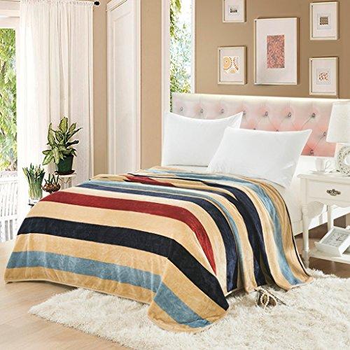 Couvertures Blanket Stripe Motif Chambre Salon Casual Feuilles Chaudes Doux Et Confortable Quatre Saisons Disponible Taille: 150 * 200cm