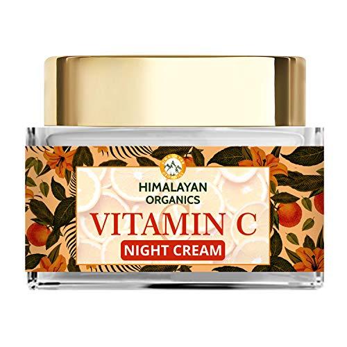 Himalayan Organics Vitamin C Night Cream with Hyaluronic Acid | Anti Pigmentation & Skin Brightening | 50ml