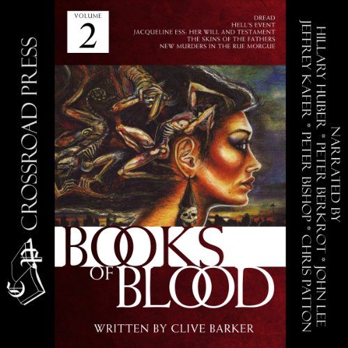 The Books of Blood, Volume 2                   By:                                                                                                                                 Clive Barker                               Narrated by:                                                                                                                                 Hillary Huber,                                                                                        John Lee,                                                                                        Peter Berkrot,                   and others                 Length: 6 hrs and 16 mins     213 ratings     Overall 4.4
