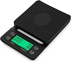 SuSip Multifunction Digital Coffee Scale LCD Digit Display with Timer Kitchen Scale