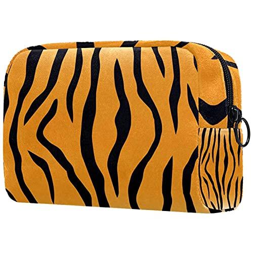 Bolsa Maquillaje Almacenamiento organización Artículos tocador cosméticos Estuche portátil Tiger Stripe Print para Viajes Aire Libre