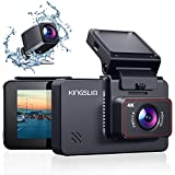 Kingslim D4 4K Dual Dash Cam with Built-in Wi-Fi GPS, Front 4K/2.5K Rear 1080P Dual Dash Camera for Cars , 3' IPS Touchscreen 170° FOV Dashboard Camera with Sony Starvis Sensor, Support 256GB Max