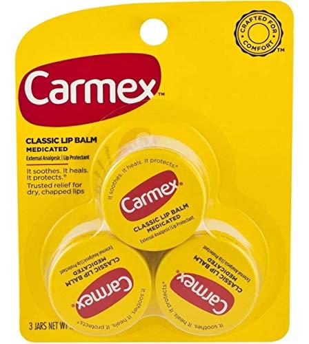 Carmex Lip Balm Protetor E Hidratante Labial 7,5 Grs. 3 Unid