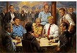 Refosian Donald Trump Präsident Malerei Great USA Art