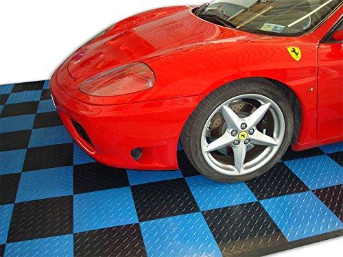 Sogi PAV-01-BL Bodenbelag aus Polypropylen, für Auto, Motorrad, Bodenbelag gegen Öl, Verschleiß, Bodenbeläge