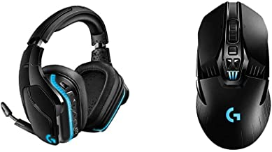 Logitech G935 Wireless DTS:X 7.1 Surround Sound LIGHTSYNC RGB PC Gaming Headset - Black, Blue & G903 Lightspeed Wireless G...