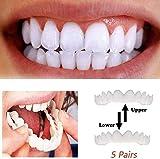 CDDZ Perfect Smile Teeth Comfort Fit Schnappverschluss Für Die Bequemsten Falschen Zähne One Size, Kaufen Sie EIN Set Und Erhalten Sie Eines Gratis, Insgesamt 2 Sets