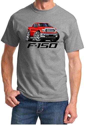 2009-14 Ford F-150 F150 Pickup Truck Full Color Design Tshirt XL Grey