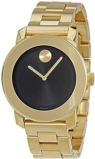 Movado Bold Black Dial Gold-Tone Unisex Watch 3600397