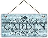 NAjinzhanwen1 Cartello da Giardino Ornamentale, Legno Blu Anticato, Cartello da 6 'x 12', ...