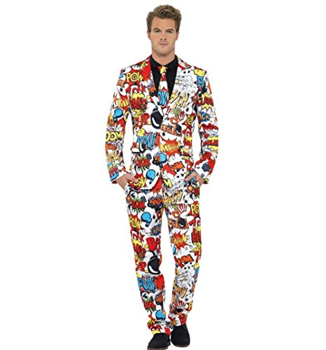 Stand Out Suits Mens Comic Strip Suit and Tie from