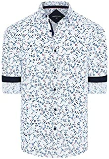 Tarocash Men's Jared Florl Print Shirt Regular Fit Long Sleeve Sizes XS-5XL for Going Out Smart Occasionwear