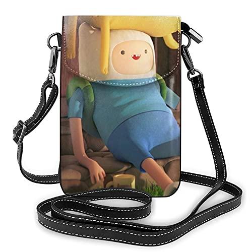 Adventure Time Crossbody Bolsas para mujer Crossbody Bolsos de teléfono celular bolso impermeable cuero bolsos pequeña cartera