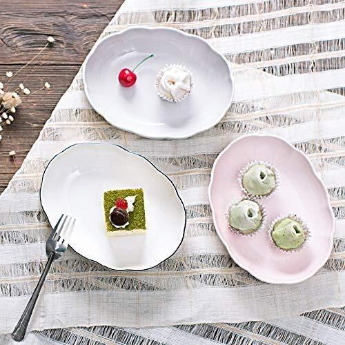 Tazón Curry tazón placa de vajilla de cerámica de la bandeja de té de cerámica fiambrera redondo de acero inoxidable cocina creativa vajillas hogar, tazón retro