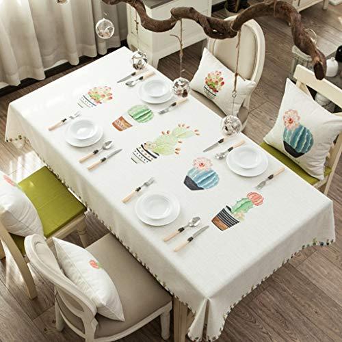 Rectangle Nappe En Coton De Coton Tissu Petit style pastoral frais Couverture De La Table Anti-Poussière pour la Cuisine De Table De Table Décoration (taille : 130 * 200cm)