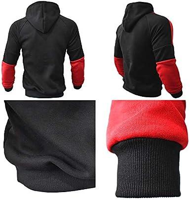 Giovent/ù Stampato Colore Contrasto Con Cappuccio Pullover Maglione In Esecuzione Pantaloni Fitness 2 Pezzi Set