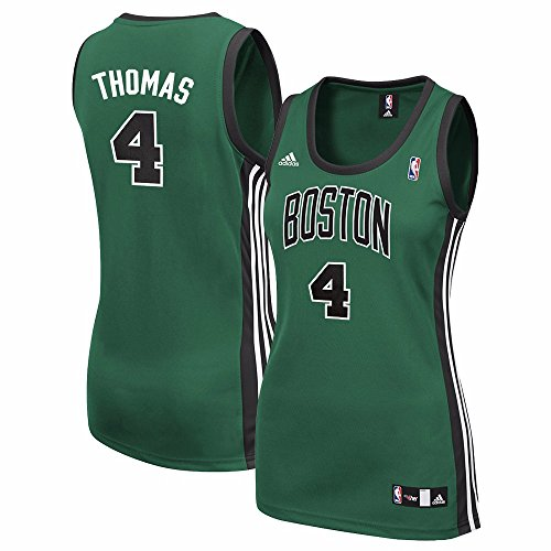 adidas Isaiah Thomas Boston Celtics NBA Women's Green Replica Jersey (S)