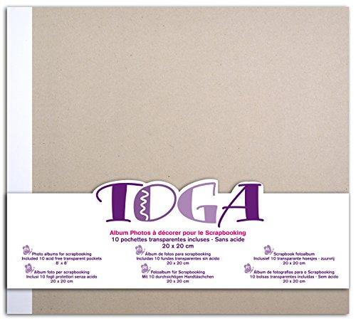 Toga AL14álbum de Recortes, cartón Gris, Dimensiones 20x 20x 2,5cm