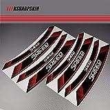 PSLER® Motorrad Felgenrandaufkleber Rim Stripes Aufkleber für SPEED TRIPLE 1050