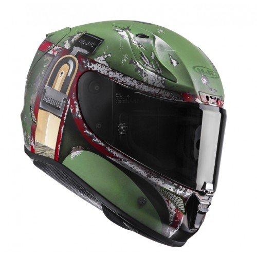 Casco de moto HJC RPHA 11 BOBA FETT, Verde, S