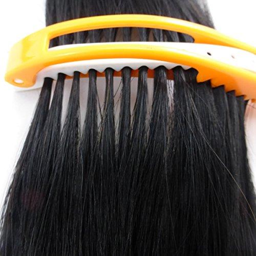 2 Stück Abteilklammern Extensions Haarverlängerung einfache schnelle Strähnen Organisation (bunt 2 Stück)