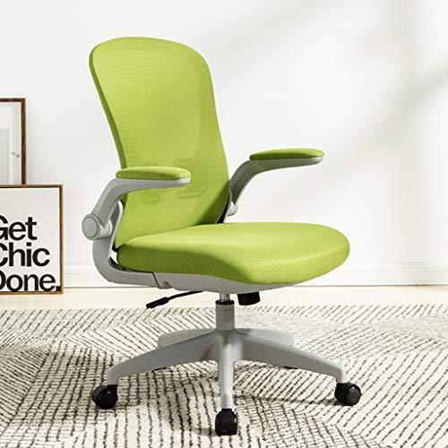 ZZHZY BBGS Swivel Stoff Metallbürostühle Excutive Schreibtisch Stühle Ergonomische Home Study Aufgaben-Stuhl Mit Lendenwirbelstütze, 4 Farben (Color : B)