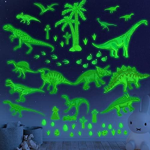 Glow in the Dark Dinosaur Wall Decals stickers for kids Bedroom Dinosaur Wall Decals for Boys product image