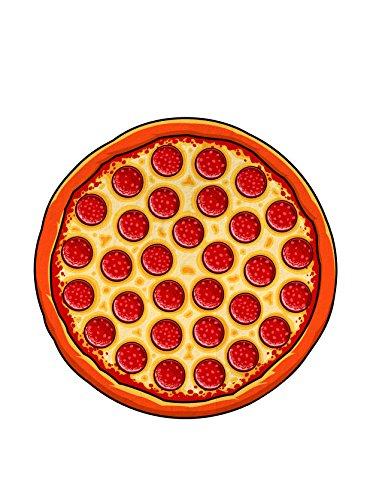 BigMouth Inc. Diversión en el Sol Toalla De Playa - Pizza