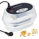 Amzdeal Incubadora Digital 9/12 de Polluelo Huevos Incubadora Automática Control De Temperatura para Aves de Corral
