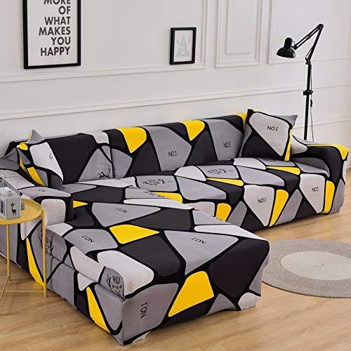 WXQY L-förmige Ecke Wohnzimmer Sofabezug grau Stretch Sofabezug Stuhlbezug Haustierschutz rutschfeste Sofabezug A33 4-Sitzer