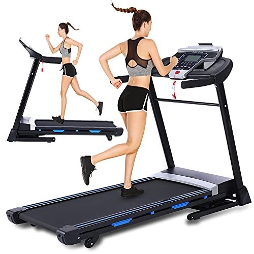 ANCHEER Treadmill, Folding Treadmill for Home with Automatic Incline, Bluetooth Speaker and LCD Display,3.25Hp Electric Fitness Treadmill Machine for Running Walking,300 LBS Max Weight