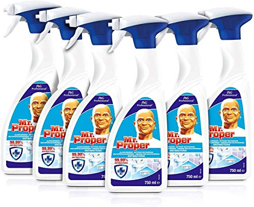 Don Limpio - Professional Limpiador y Desinfectante Multisuperficies, 6 unidades de 750 ml
