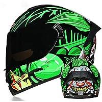 システムヘルメット男性女性オートバイフルフェイスヘルメット、フリップアップモジュラーモトクロスヘルメットDOT/ECE承認防曇ダブルバイザーバイクモペットストリートバイクレーシングクラッシュヘルメット<br>4, L=(59~60CM)