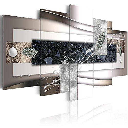 murando Acrylglasbild Abstrakt 200x100 cm 5 Teilig Wandbild auf Acryl Glas Bilder Kunstdruck Moderne Wanddekoration - Texture Kugeln Feder bunt a-A-0273-k-p